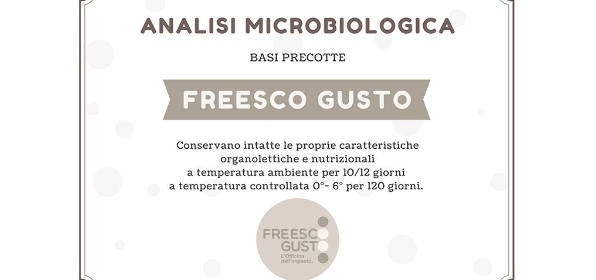 Certificazione termini minimi di conservazione - Freesco Gusto
